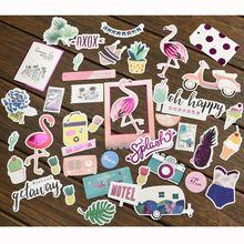 40 unid Flamingo Cartulina Planificador de Troqueles para Scrapbooking Feliz/de la Tarjeta/Diario Del Proyecto(China)