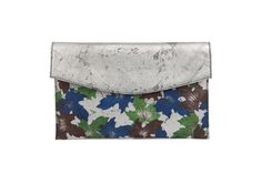 Devina Juneja Autumn Full Leaf Clutch - hand textured leather with hand painted maple leaves - visit us at www.devinajuneja.com