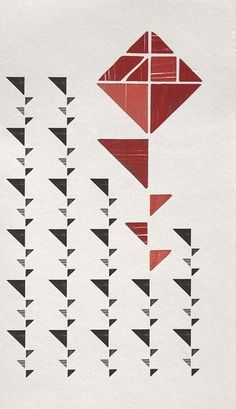 This exquisite graphic composition by the Barcelona-based studio, Atipus, invokes The Last Rose, a poem by the Catalan poet, Marius Torres.