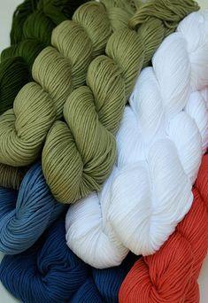 Blue Sky Alpacas Yarn in Skinny Organic Cotton - Blue Sky Alpacas Skinny Organic Cotton Yarn (Dyed and 100% Colorgrown Cotton yarn)