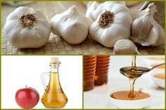 fokhagyma, méz, almaecet Garlic, Health Fitness, Vegetables, Food, Life, Essen, Vegetable Recipes, Meals, Fitness