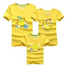 Mother Father Baby Outfits Matching High Quality Cotton Short Sleeve Clothe $15.02 Mother Daughter Matching Outfits, Matching Family Outfits, Matching Clothes, Couple Shirts, Family Shirts, Family Clothes, Mother Father And Baby, Paint Shirts, Costume