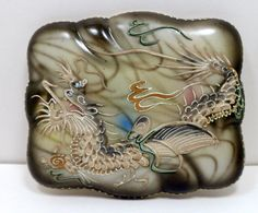 Vintage Fairyland Dragonware Cigarette Box by CollectMemories, $28.00