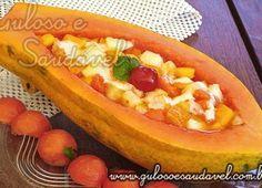 Salada de Frutas na Barquinha de Mamão