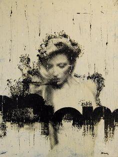 SHARON / 125 x 95 cm / acrylic on canvas / 2012 by Lilja Bloom