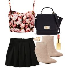 Lydia Inspired Outfit with a Bralet by veterization on Polyvore featuring moda, Forever New, Aéropostale, Seychelles and Forever 21