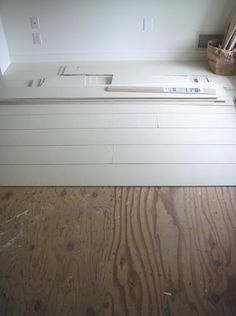 step-by-step instructions on how to create rustic-looking white-painted floors for 45 cents a square foot . http://www.remodelista.com/posts/paints-palette-white-painted-floors-from-frugal-farmhouse