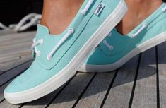 Mint colored shoes