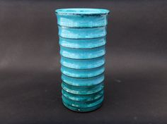 Tall  Aquamarine Pottery Vase by MiriamsKiln on Etsy
