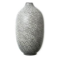 OTILLO Vase 44cm- Céramique - Gris clair, Gris foncé - Vases design - Bruno Evrard