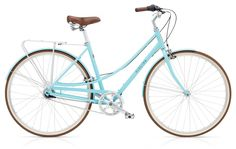 Electra Loft 7i. This pretty lady comes with fenders, kickstand, and 7 easy-to-shift gears.