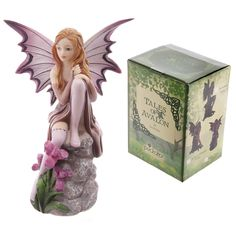 Sweet Viola Lisa Parker Tales of Avalon Fairy Fairy Statues, Fairy Figurines, Dragons, Tarot, Lisa Parker, Fairy Gifts, Violet, Gifts For Girls, Princess Zelda