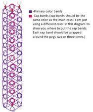 121 best rainbow loom charts and template images on pinterest rh pinterest com Minion Rainbow Loom Pattern Zipline Rainbow Loom Bracelet