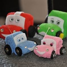 Washcloth Cars and Automobiles Instructional Video and PDF | YouCanMakeThis.com