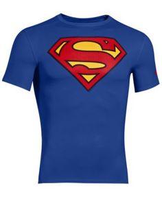 UNDER ARMOUR Under Armour T-Shirt, Alter Ego Superman Compression. #underarmour #cloth #shirts
