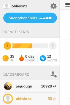 Duolingo - Nice flat design & contrasting