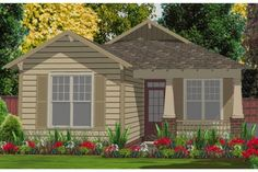 Find your dream bungalow style house plan such as Plan which is a 1205 sq ft, 2 bed, 2 bath home with 1 garage stalls from Monster House Plans. Bungalow House Plans, Craftsman Style House Plans, Cottage House Plans, Country House Plans, New House Plans, Small House Plans, Cottage Homes, House Floor Plans, Craftsman Cottage