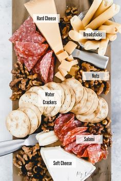 How To Make a Trader Joe's Cheese Platter (VIDEO I'll show you just How To Make a Trader Joe's Cheese Platter. I've included how to choose your ingredients, how to arrange them, what kind of boards to use, and give two different price options. Meat Platter, Food Platters, Cheese Platters, Snack Platter, Platter Ideas, Party Platters, Meat Appetizers, Appetizer Recipes, Crescent Rolls