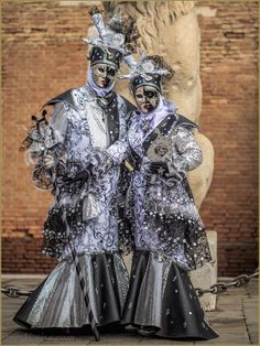 Silver and black are always a winning combination at Carnaval of Venise 2016