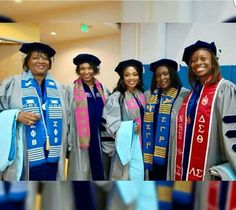 All of these ladies received their PhD Alpha Kappa Alpha Sorority, Delta Sigma Theta, Sorority And Fraternity, Sorority Girls, Women In History, Black History, Modern History, Mayor Of Chicago, Black Fraternities