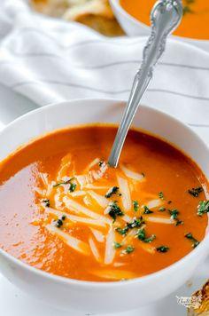 zimní rajčatová polévka