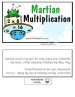 maths - Martian multiplication file folder game to download