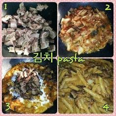 Bacon kimchi pasta #MrsKimchi #BillieCooks #homemade #Koreanfood #fusion