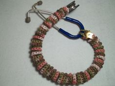 Stethoscope Cover Pink Camo Crochet stethoscope by BeadnNeedles, $12.75