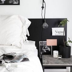 New corners in the bedroom. Inspo boards as bed heads