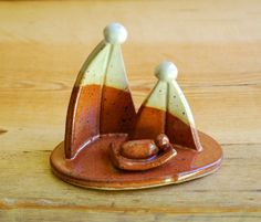 One piece nativity scene by MacMichaelPottery on Etsy
