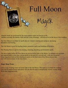 Full Moon Magick by XxMelanthaxX.deviantart.com on @deviantART