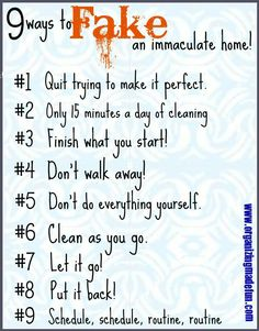 9 Ways to Fake an Immaculate House!