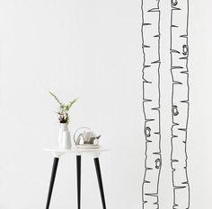 """Kunst für die Wand: das Wandtattoo: Wandtattoo """"Birkenstamm"""""""
