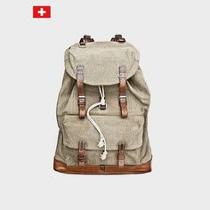 World War Ii 50 S Swiss Mountain Army Bag Leather Canvas Steel Bearing The System Redwing Redmoon