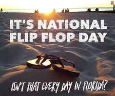 It's National Flip Flop Day! Thank you Brian Shields for sharing. Here in sunny Florida, we love our flip flops. #SignaturePins #NationalFlipFlopDay #SunnyFlorida