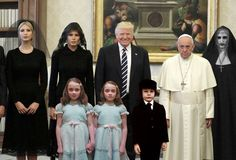 10+ Of The Funniest Reactions To Super Sad Pope Meeting The Trumps