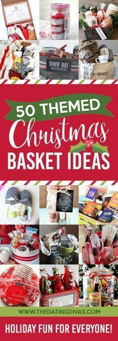 50 Themed Christmas Gift Baskets #giftbaskets