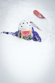 Powder face! Happens to me every time...just keep smiling and get up on your ski's again!