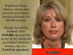 "Renee Ellmers wants to know why Fort Bragg workers were laid off?? They were laid off because *she* and a bunch of other Tea Party extremists can't accept a law passed three years ago and held the government hostage over it. Does she not know what ""government shutdown"" means? Do NOT let her get away with this posturing: hold her accountable. From the Fayetteville Observer: http://www.fayobserver.com/articles/2013/10/04/1287133?sac=fo.military"