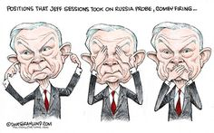 Jeff Sessions on Russia and Comey Political Quotes, Political Satire, Political Cartoons, Stupid People, Political Junkie, Jeff Sessions, Worlds Of Fun, Just Go