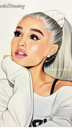 she's honestly a queen Ariana Grande Anime, Ariana Grande Drawings, Ariana Grande Fans, Ariana Grande Wallpaper, Ariana Grande Pictures, Adriana Grande, Girly Drawings, Cute Girl Wallpaper, Celebrity Drawings