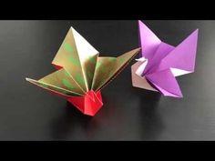折り紙 華鶴 折り方 Origami Flower crane - YouTube