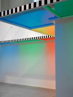 Daniel Buren, A Perimeter for a Room, work in situ, 2011,