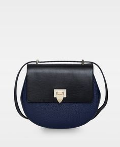 348327704664 Tiny round satchel bag w buckle Navy Black - Nyheder - Decadent - Officiel. Grey  HandbagsBlack ...