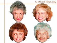 Unique The Golden Girls Printable Masks, costumes, comedian, stars TV show, party mask, birthday, photo booth props, celebrity, Halloween by AmazingPartyShop on Etsy https://www.etsy.com/listing/478130773/unique-the-golden-girls-printable-masks