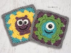Repeat Crafter Me: Crochet Monster Granny Squares...This pin really should be on two boards...