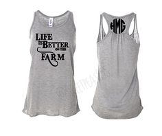 Life Is Better On The Farm Tank Farmers Wife Shirt by SweetPeas955
