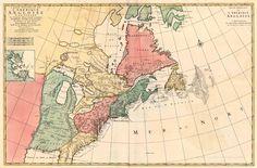Carte Nouvelle de l'Amerique Angloise Contenant la Virginie, Mary-Land, Caroline, Pensylvania, Nouvelle Iorck, N: Iarsey N: France, et les Terres Nouvellement Decoverte ... - Jaillot - Covens & Mortier, 1710