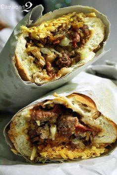 """Venezuelan Sandwich """"Pepito""""."""