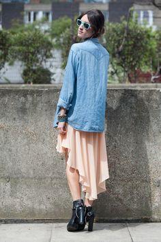 Top: Goldie  Skirt: Goldie  Jacket: Wranger vintage  Sunnies: Rayban  Bag: Celine